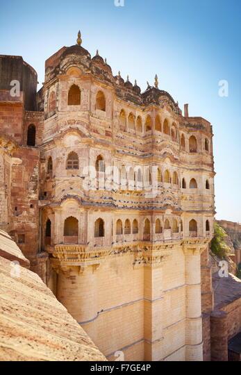 Mehrangarh Fort, Jodhpur, Rajasthan, India - Stock-Bilder