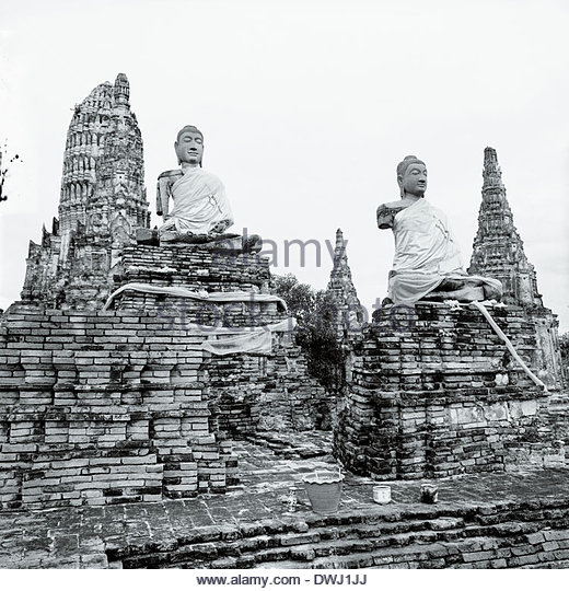 Buddhist statues, Wat Phra Si Sanphet, Ayutthaya, Thailand, South East Asia. - Stock Image