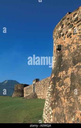 Dominican Republic Puerto Plata San Felipe fort - Stock Image
