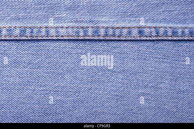 blue jean texture pattern - Stock Image
