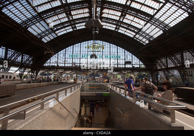 Main train station, Deutsche Bahn AG, Cologne, Germany, Europe - Stock Image