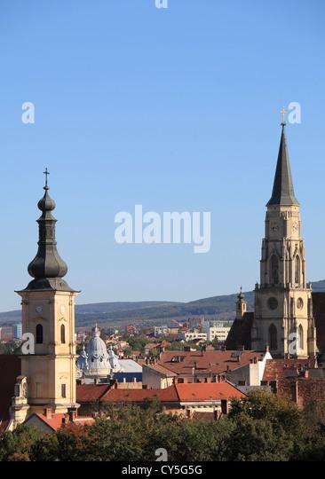 Romania, Cluj-Napoca, skyline, general view, - Stock Image
