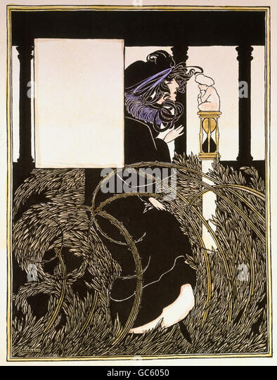 fine arts, Art Nouveau, print, illustration by W. H. Bradley, for 'The Chicago Sunday Tribune', from the - Stock-Bilder