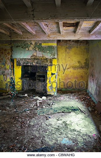 derelict room - Stock Image