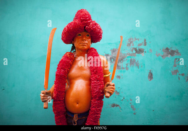 Dhaka, Bangladesh. 12th April, 2016. Bangladesh Hindu community devotee dances and attend as he takes part in a - Stock Image