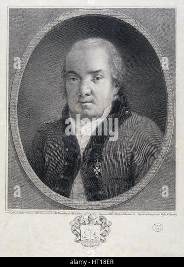 Portrait of the architect Giacomo Quarenghi (1744-1817), Late 18th cent.. Artist: Saunders, Joseph (active Early - Stock Image