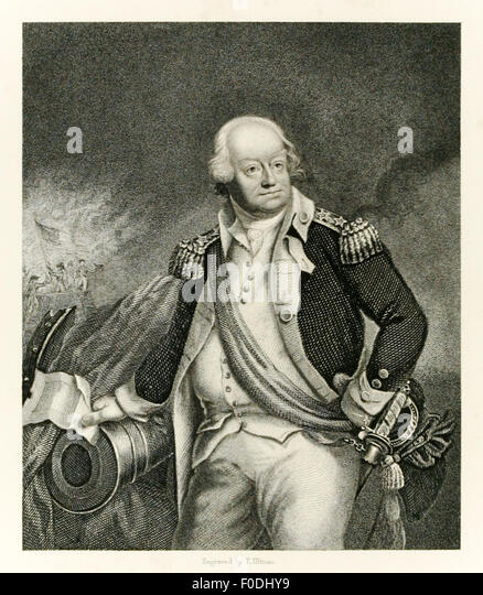 Major General Benjamin Lincoln (1733-1810) served in the Continental Army during the American War of Independence, - Stock Image