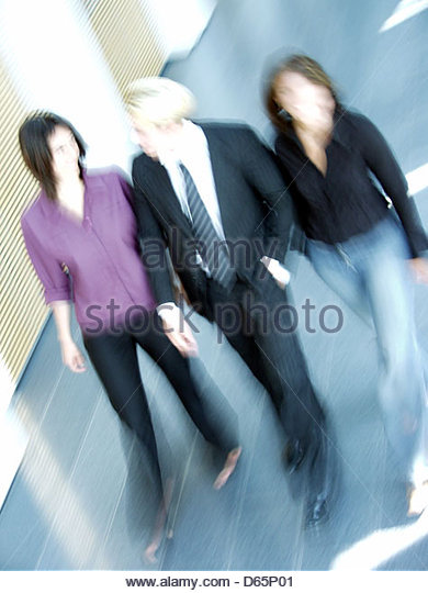 business,3 persons,dynamic - Stock Image