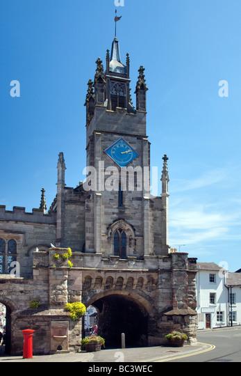 East Gate the City Centre Warwick Warwickshire England - Stock Image