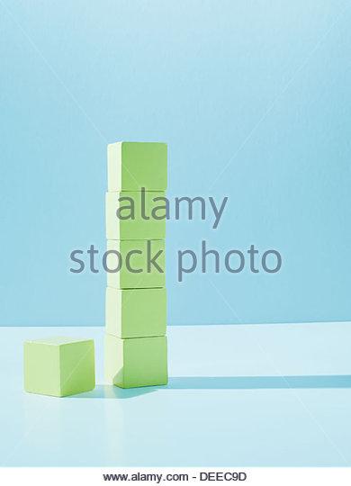 Stack of yellow blocks - Stock Image