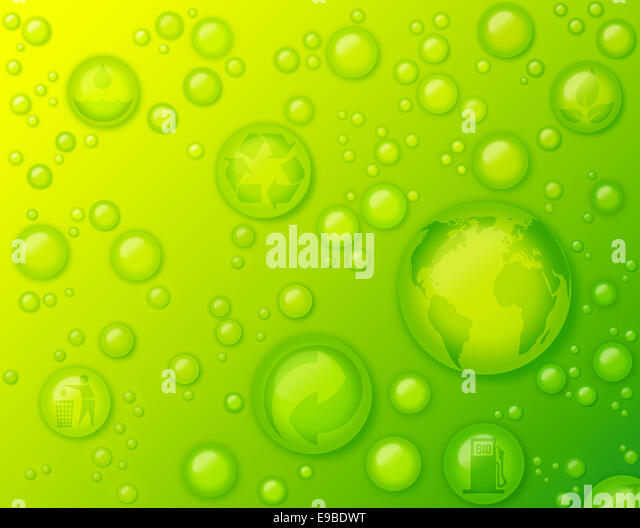 Concept of environmentally friendly, environmental protection, go green, nature, eco friendly, recycling and biodegradable - Stock Image