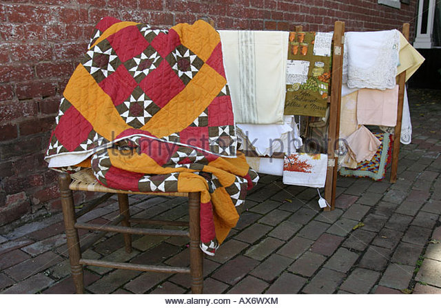 West Virginia Lewisburg quilt for sale - Stock Image
