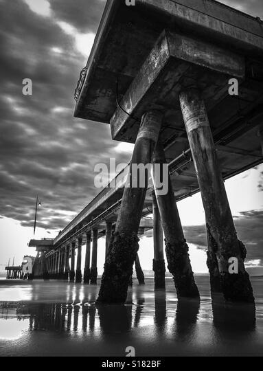 Low Tide Venice Pier, Venice CA USA - Stock-Bilder