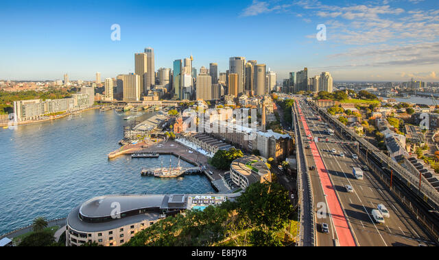 Australia, Sydney, View of downtown - Stock Image