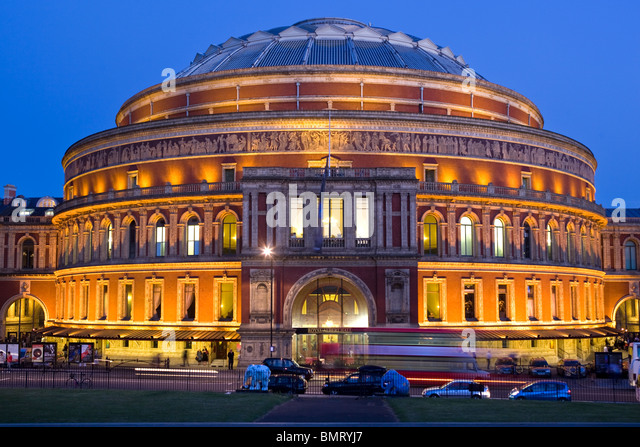 Exterior royal albert hall night stock photos exterior for Door 12 royal albert hall