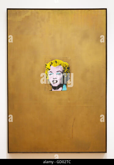 Gold Marilyn Monroe, 1962 by Andy Warhol, silkscreen ink on synthetic polymer paint on canvas, Made shortly after - Stock Image