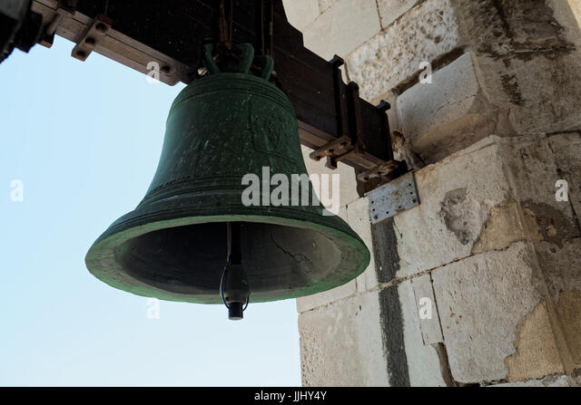 Church Bell, Cadiz Cathedral (Catedral de Santa Cruz de Cádiz), Plaza Catedral, Cadiz, Spain - Stock Image