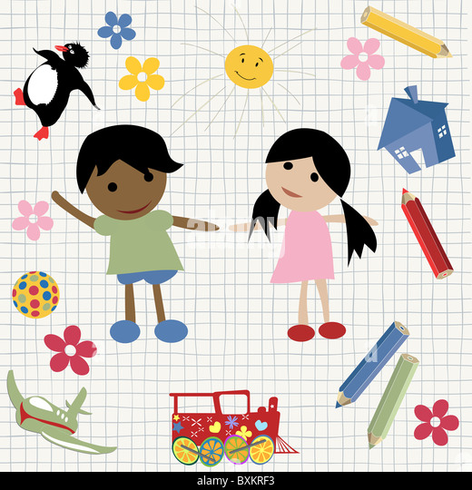 Childlike design - Stock Image