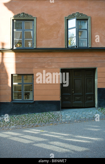 Sweden, Stockholm, house exterior - Stock Image
