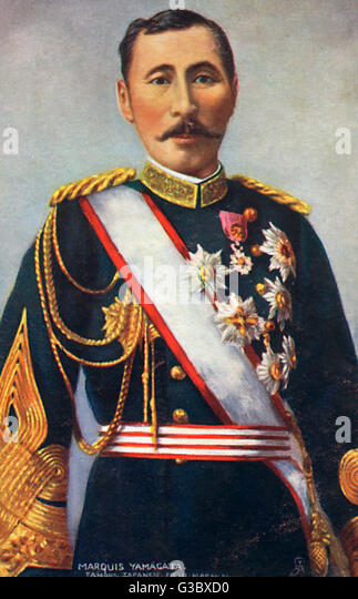 Field Marshal Prince Yamagata Aritomo (18381922), also known as Yamagata Kyosuke - a Field Marshal in the Imperial - Stock Image