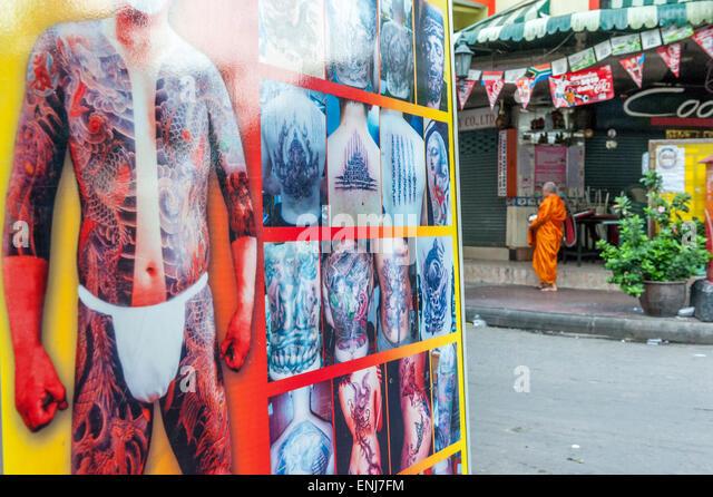 Advertising sign bangkok stock photos advertising sign for Bangkok tattoo prices