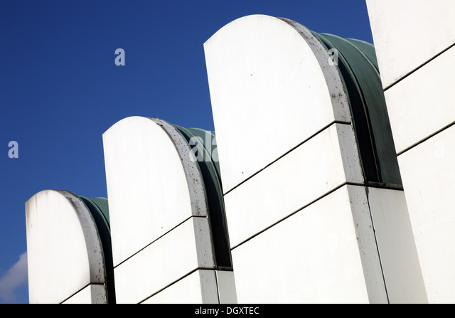 The Bauhaus Archive, the last building designed by Gropius, Berlin - Stock Image