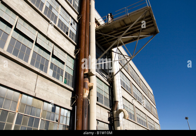 Empty Manufacturing Plant - Stock Image