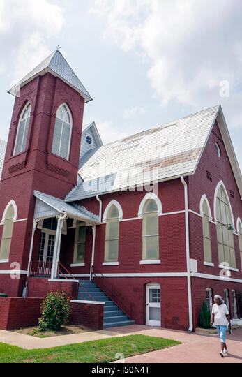 Selma Alabama First Baptist Church Martin Luther King Jr Civil Rights Movement segregation Black History religion - Stock Image
