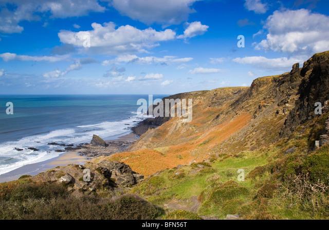 Strangles looking towards Crackington Haven; Cornwall - Stock Image