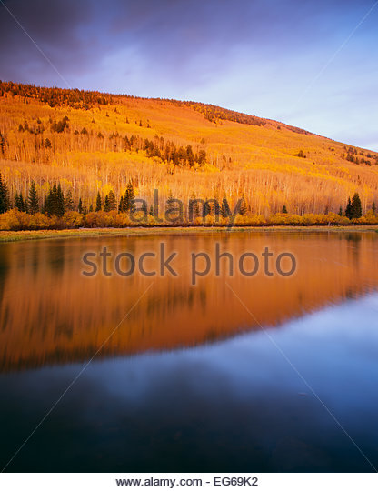 Warner Lake,  La Sal Mountains.  Manti La Sal National Forest, Utah. - Stock-Bilder
