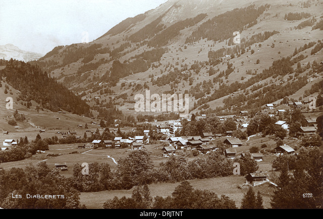Les Diablerets, Switzerland - Stock Image