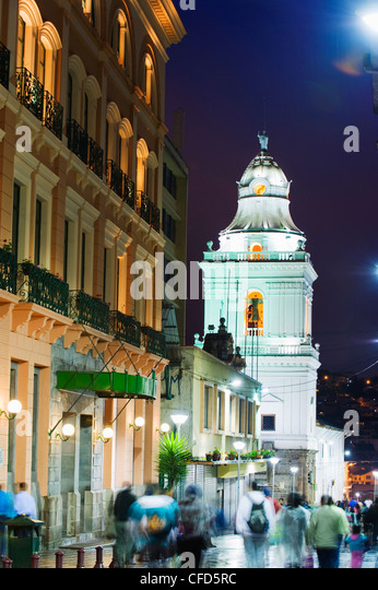 Old town, UNESCO World Heritage Site, Quito, Ecuador, South America - Stock Image