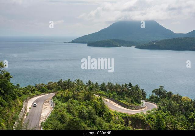 Minivan exploring Pulau Weh Island, Aceh Province, Sumatra, Indonesia, Southeast Asia, Asia - Stock Image