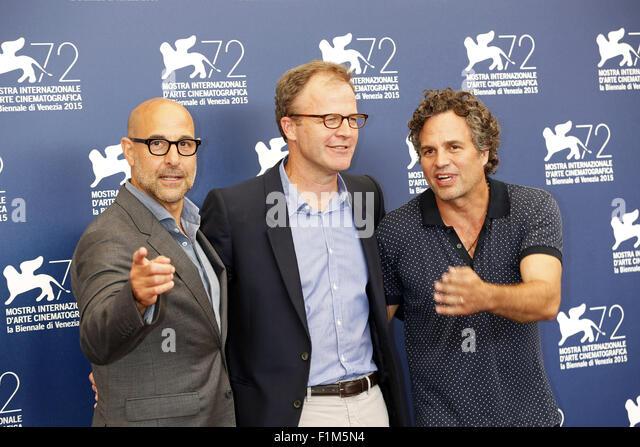 Venice, Ca, Italy. 3rd Sep, 2015. Stanley Tucci, Thomas McCarthy, Mark Ruffalo.Spotlight photo call.72nd Venice - Stock Image