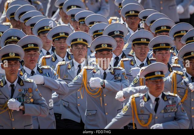 Mongolian Army Parade Marching Parade...
