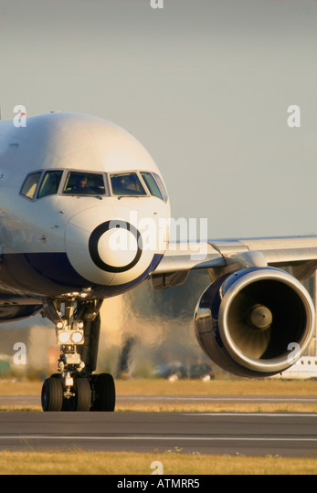 Airplane, aeroplane, plane, jet - Stock Image