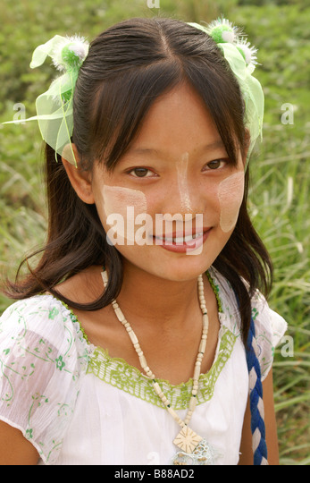 Young girl in Myanmar (Burma) - Stock-Bilder