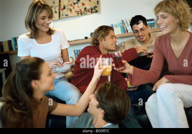 Informal gathering at home stock photos amp informal gathering at home stock images alamy