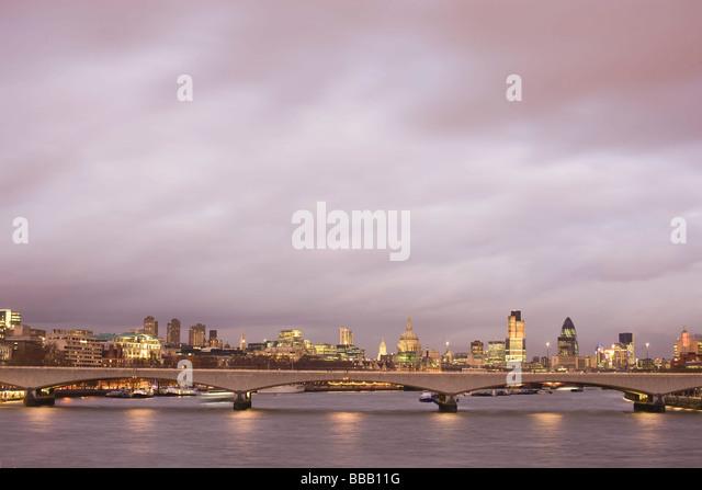 London financial district skyline - Stock Image
