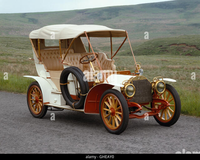 1904 Mercedes 28 32 HP side entrance Phaeton Country of origin Germany - Stock Image