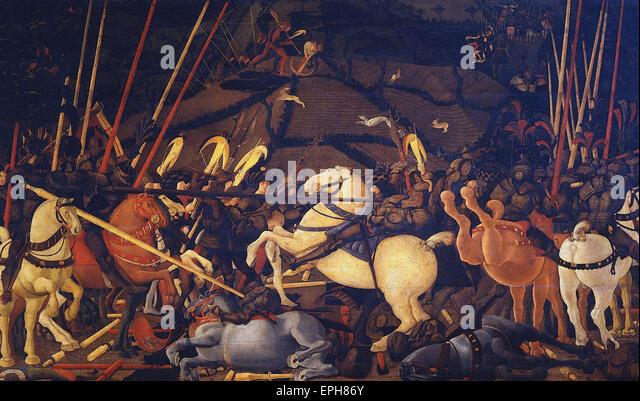 Paolo Uccello  Battle of San Romano 2 - Stock Image