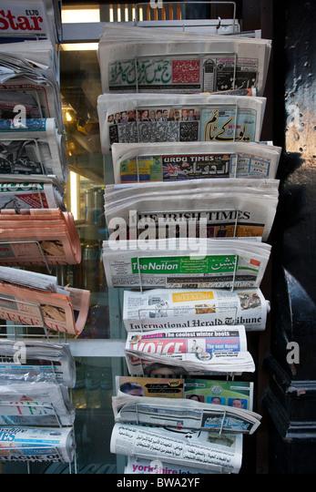 International and local newspapers - Stock-Bilder