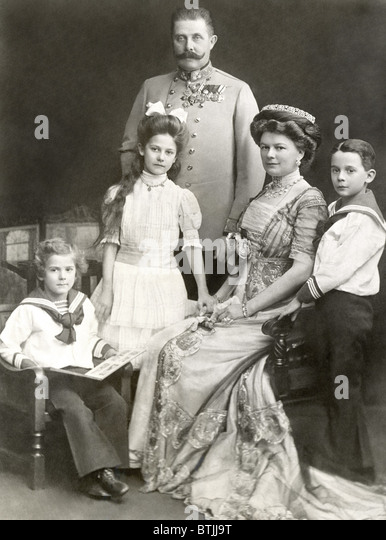 ARCHDUKE FRANZ FERDINAND, and family, 1911 - Stock Image