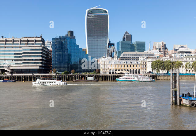 View of the City of London Skyline, London, England - Stock Image
