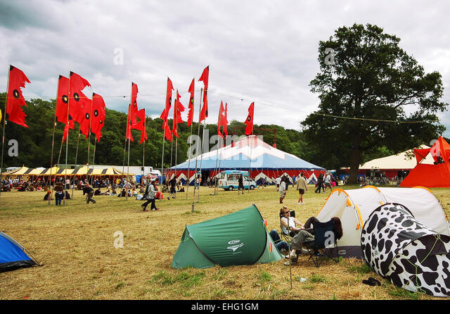 Wide shot of the Glade Festival 2008. - Stock Image
