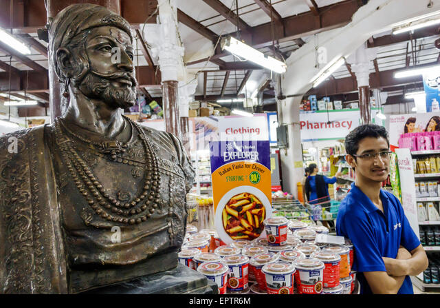 Mumbai India Asian Colaba Mahatma Gandhi Road Sahkari Bhandar Sahakari grocery store supermarket inside shopping - Stock Image