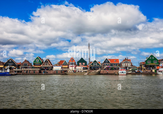 Volendam, Edam-Volendam, North Holland, Netherlands - Stock Image