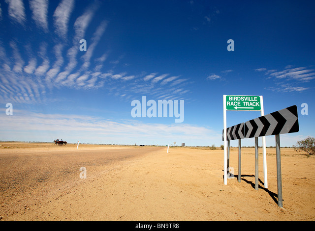 Birdsville race track sign - Stock Image