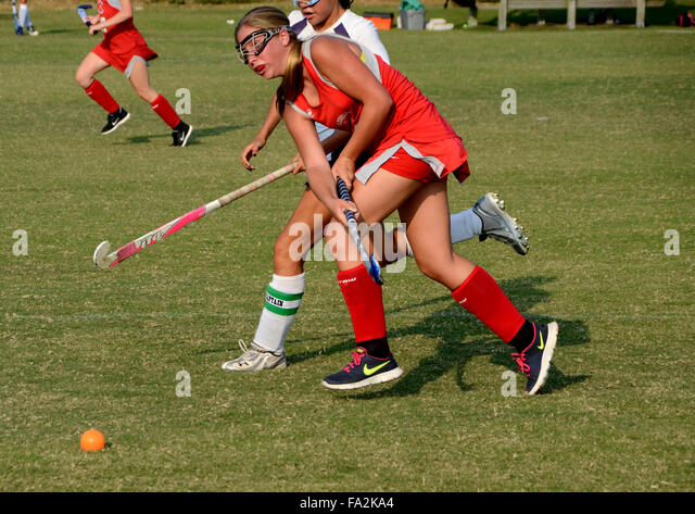 High school field hockey - Stock Image