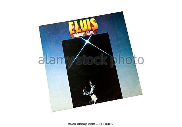Moody Blue album by Elvis Presley - Stock Image